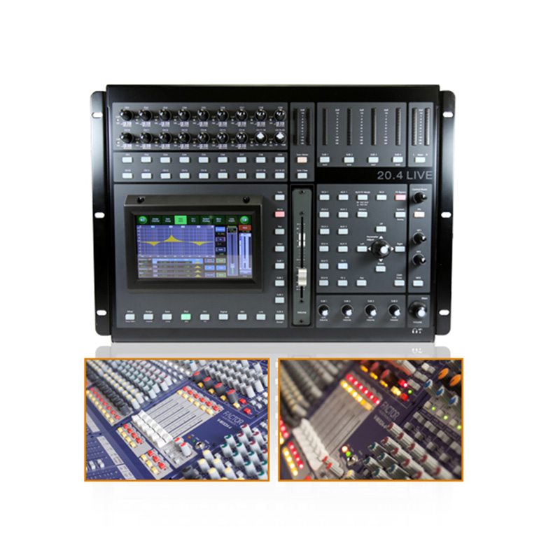 20 input digital mixer with touch screen & wireless iPad control